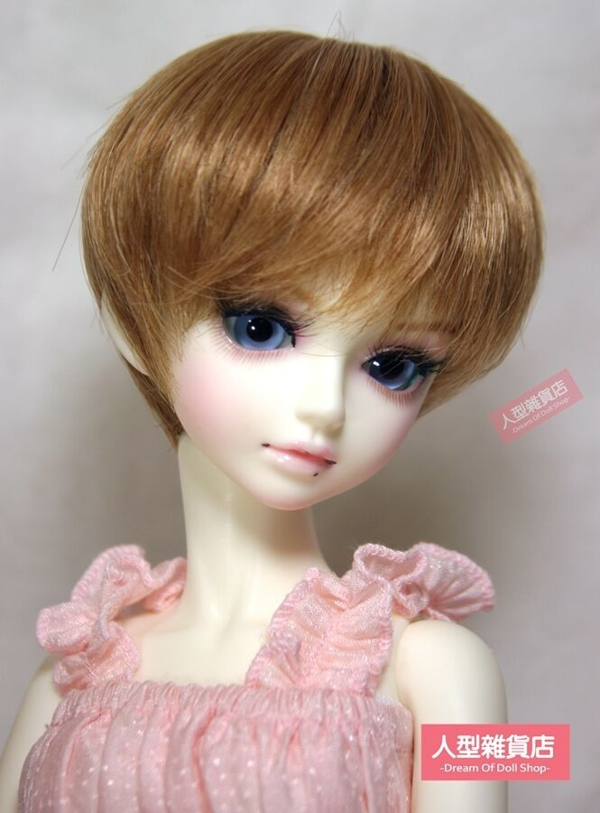BJD Doll 1//4 7-8 Wig Long Curly Afro Hair High Temperature Fiber for Girl Orange