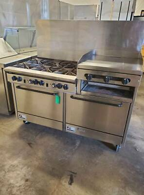 Southbend 60 Gas 6 Burner Range W 24 Griddle Double Oven X460dd-2rr