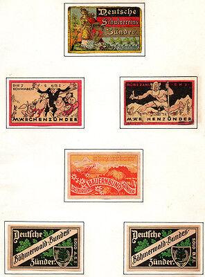 ANTIQUE Vintage MATCHBOX LABEL Match Box Lot GERMANY  / #013