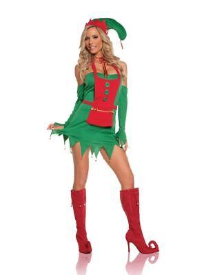 Weihnachten Sexy Elfe Holiday Helfer Erwachsene Damen Kostüm Staffel Rot Grün Sexy Helfer