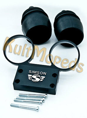 Simson S51 S50 S70 S53 Armaturenträger Hüllen Tachometer Drehzahlmesser Black