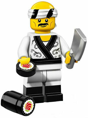 NEW Lego 71019 NINJAGO Movie Series SUSHI CHEF Minifigure w/ Sushi Roll~SEALED!