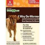 Sentry Worm X Plus 7 Way Broad Spectrum De-Wormer M/L Dogs Over 25lbs 6 Tablets