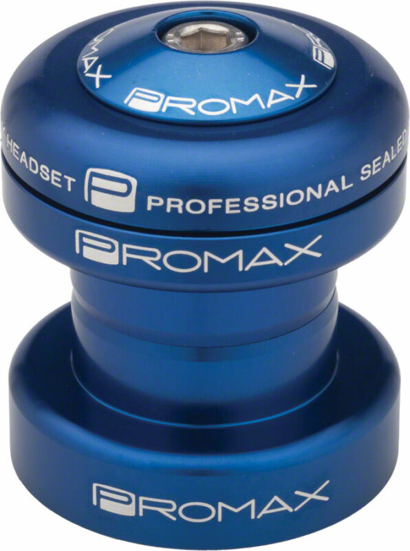 """Promax PI-1 Alloy Sealed Bearing 1"""" Press in Headset Blue"""