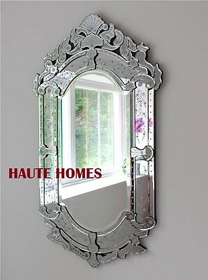 "NEW STUNNING 48"" VENETIAN ETCH ENGRAVE RECTANGLE Wall FOYER Mirror"
