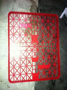 RED PLASTIC BAKERS TRAYS - $4