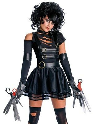Womens Adult Sexy Deluxe Miss Edward Scissorhands Costume with Gloves