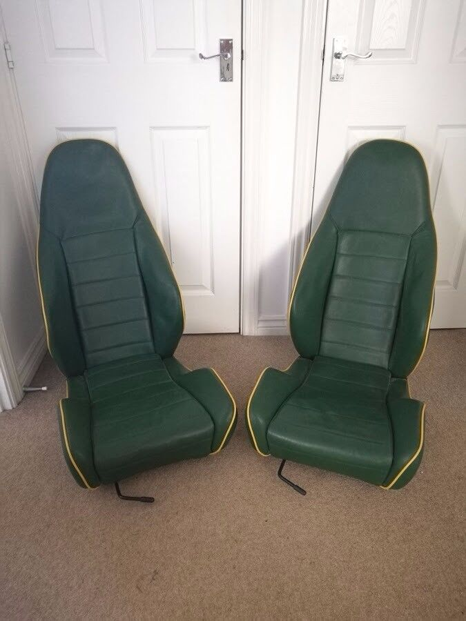 A pair of Caterham 7 type (Lowcost, Westfield, Martyn Keenan etc.) car seats by Cobra with runners