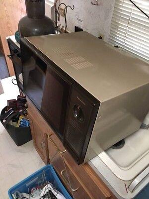 Panasonic Ne-6030 1000w Black Stainless Steel Commercial Microwave Ovens