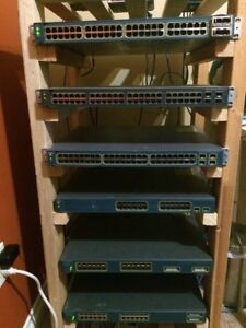 Cisco Layer 3 Catalyst Switches (GigE + PoE) with accessories