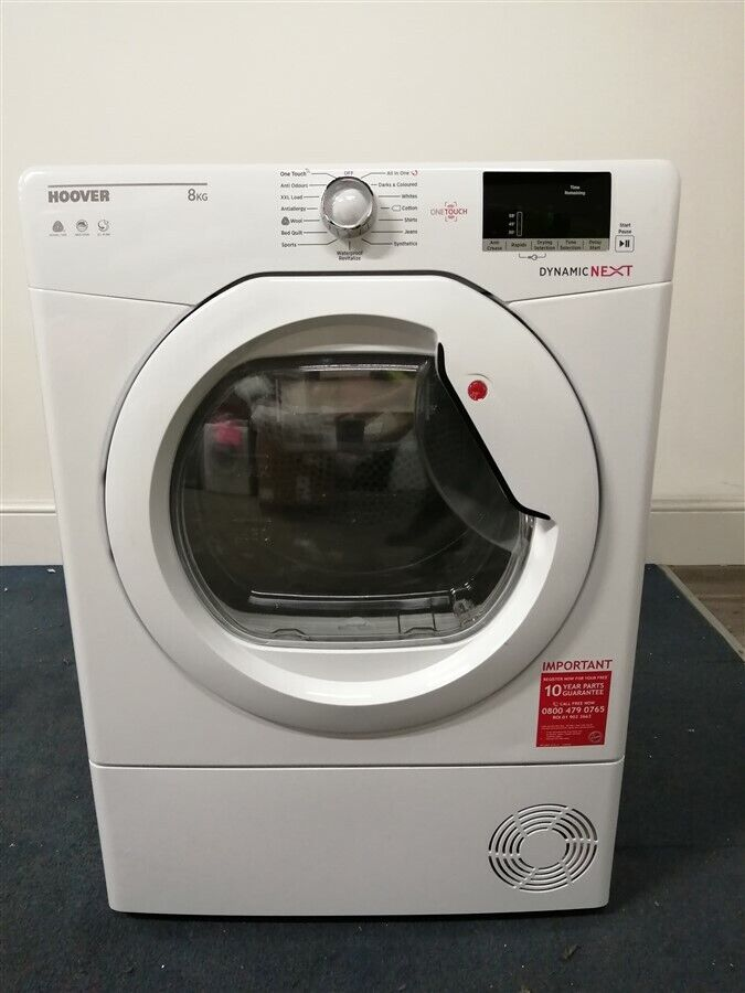 Hoover DXC8DE 8kg Load Condenser Tumble Dryer - White (IP-IH017971261)