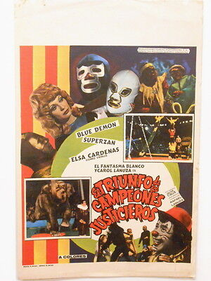 Triumph of the Champions of Justice Circus Santo Wrestling Window Card Poster