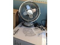 Fantasia Retro Fan - 25cm - brushed nickel - NEW