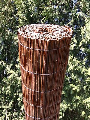 4m Long WILLOW Wooden SCREENING ROLL Garden Screen Fencing Panel Fence Outdoor