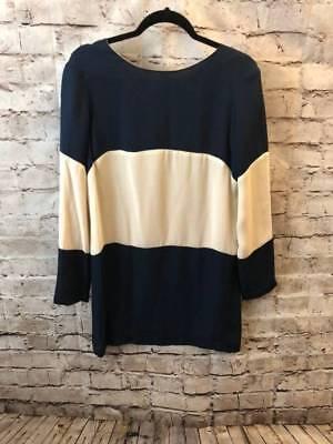Heidi Merrick Huntington 100  Silk Wide Striped Dress Size 6