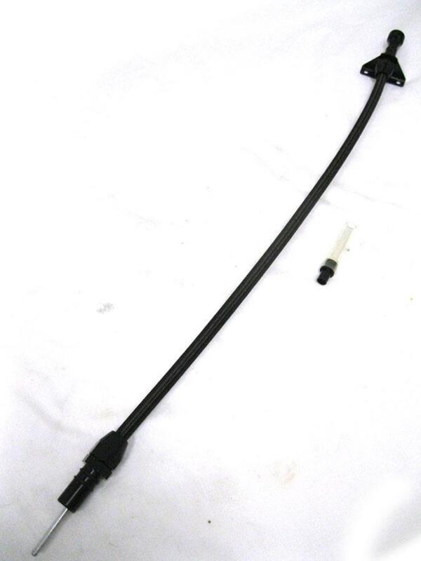 "Mopar Dodge 904 Black Braided Flexible Transmission Dipstick Firewall Mount 29"""