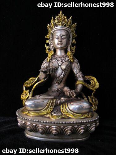 8 Tibet Tibetan Silver Gild Buddhism Vajradhara Vajrabhairava Buddha Statue