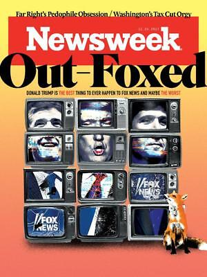 PRESIDENT DONALD TRUMP OUT FOXED FOX NEWS NEWSWEEK NOVEMBER 2017