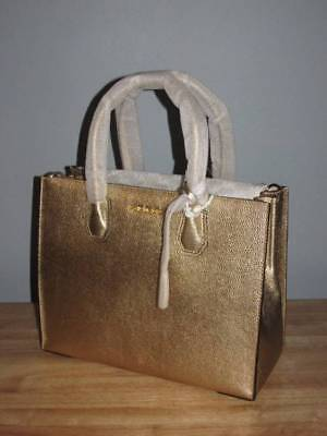 8485b2278089 Michael Kors Mercer Large Pebbled Leather Convertible Tote Pale Gold  298  NWT