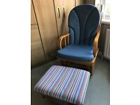 Gliding / Rocking / Nursing Chair & Foot Stool
