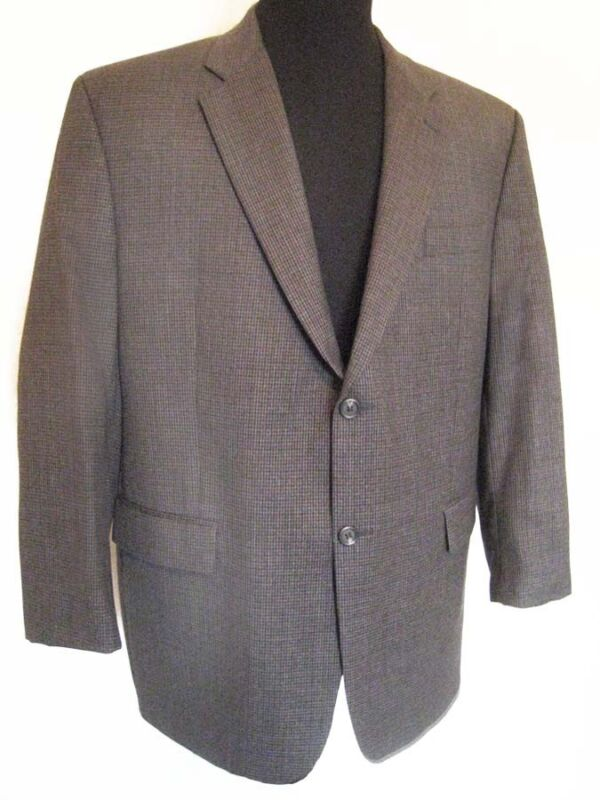 Ralph Lauren Dillards 100% Wool Mens 46R Mini-Dogtooth Sports Jacket Excl' Cond