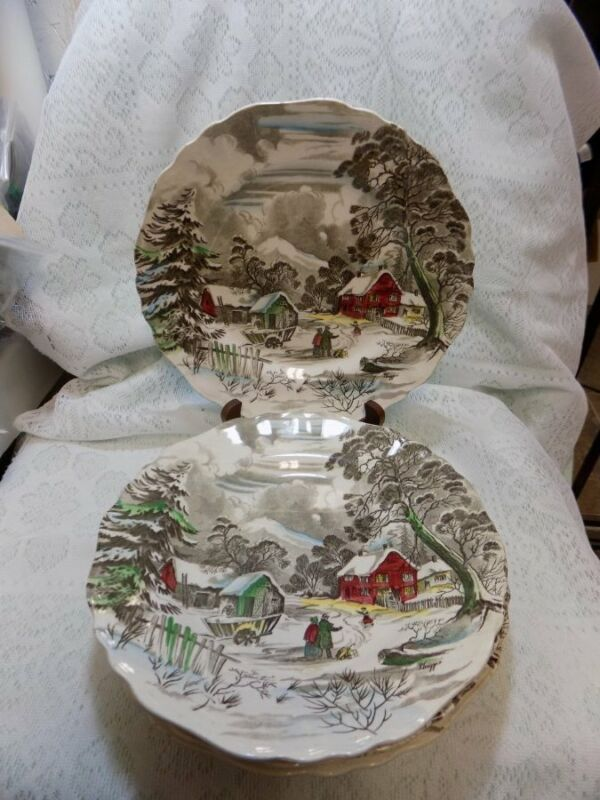 """LOT OF 7 DINNER PLATES~WELCOME HOME~J&G MEAKIN~ENGLAND~STAFFORDSHIRE~10"""""""