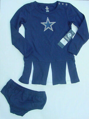 Dallas Cowboy Cheerleader Halloween Costume Girl (NWT Dallas Cowboys Girls Cheerleader Costume Dress Outfit Halloween 2 Pc Sz)