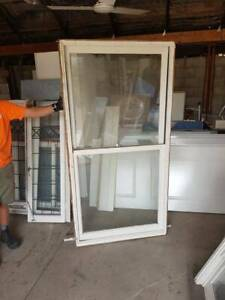 TIMBER DOUBLE HUNG WINDOWS IN FRAMES - 6 AVAILABLE