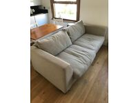 Great condition two seater sofa, armchair and foot rest!