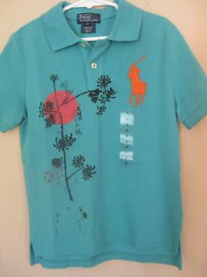 6 Graphic Designs - NWT POLO RALPH LAUREN BOYS SHORT SLEEVE POLO SHIRT SIZE 6 ASIAN GRAPHIC DESIGN