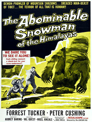 Abominable Snowman Decor Movie Poster.Graphic Art Wall Interior Design.2606 (Abominable Snowman Decoration)