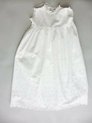 Antique baby nightdress whitework lace embroidery under christening dress