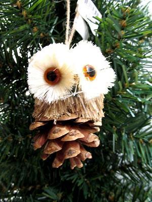 NWT WOODLAND FRIENDS - OWL ON ACORN TREE ORNAMENT -  RETAIL $12.50