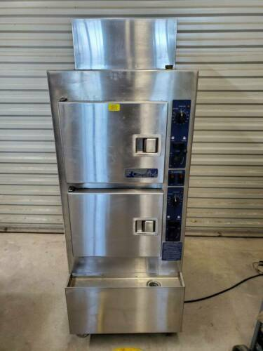 Used Cleveland SteamCraft Steamer Gemini 10 Pan Model 24CGA6.2S 120v Natural Gas