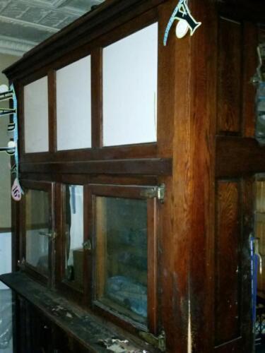 Antique Oak Walk in Cooler from Corner General Store-Ice box-original finish