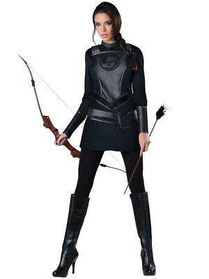 Warrior Huntress Costume Katniss Hunger Games Mockingjay Movie Part Womens (Katniss Mockingjay Kostüm)