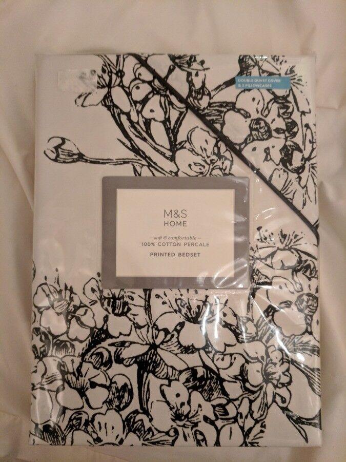 Marks and Spencer Abigail double duvet cover set - Brand new