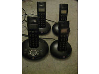 BT Graphite 1500 Quad Cordless Phones (batteries required - LCD display not available)