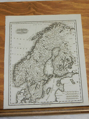 1846 Antique Map//SWEDEN AND NORWAY