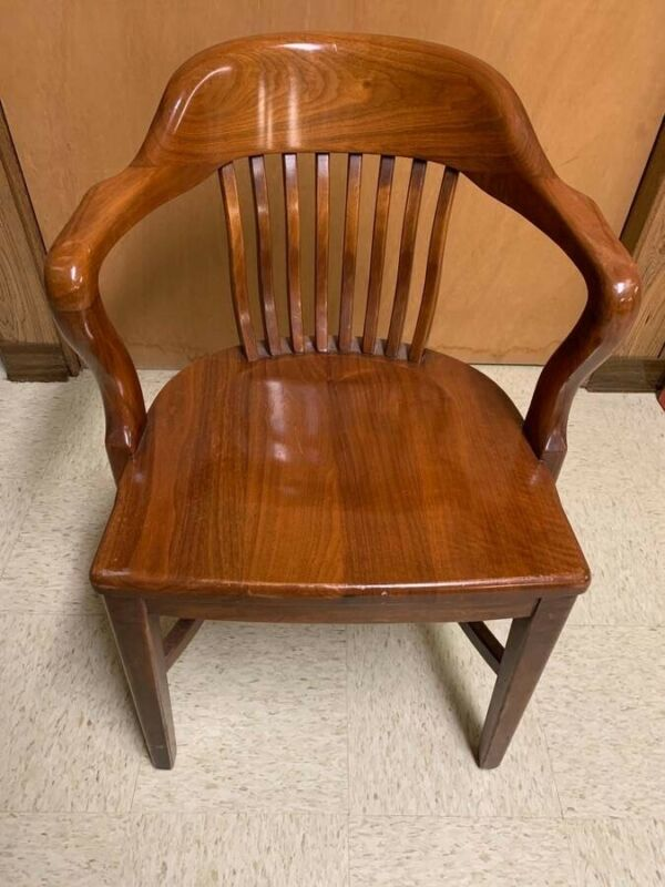Milwaukee Chair Co - Walnut Wood Banker/Office Chair
