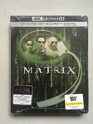 The Matrix (4K UHD + Blu-ray + Digital, Best Buy Steelbook) (Best Military Sci Fi)