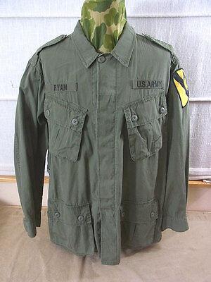 size L US ARMY VIETNAM Feldjacke 1st Cavalry Field Jacket Jungle M64 oliv Jacke