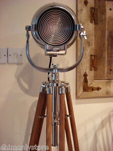 VINTAGE OLD STRAND PATT 123 FILM MOVIE THEATRE STAGE LAMP LIGHT TRIPOD