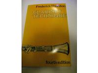 Clarinet Technique Book (fourth edition) - Frederick Thurston