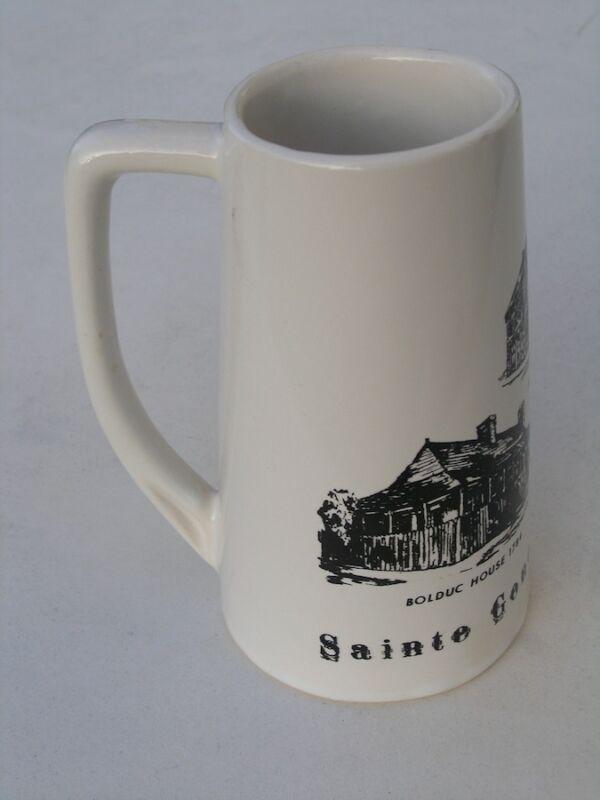 Rare Vintage 1960s Sainte Genevieve Missouri Ceramic Beer Mug Stein Tankard