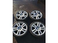 5x108 jag x/stype alloy wheels 225/40/18 good tyres also fit renault