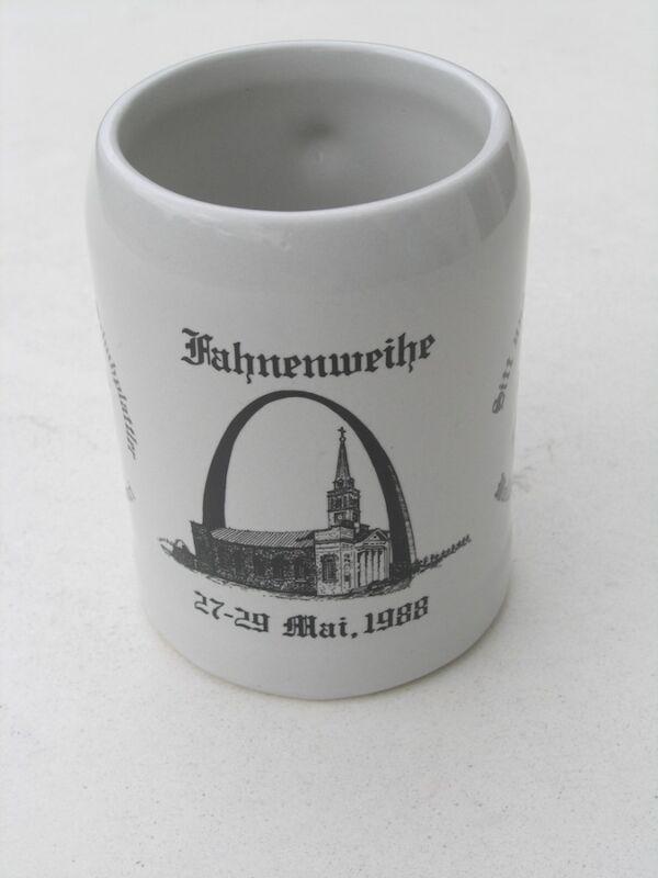 Vint GTEV D'Fröhliche Schuhplattler fahnenweihe St Louis Beer Stein Mug Tankard