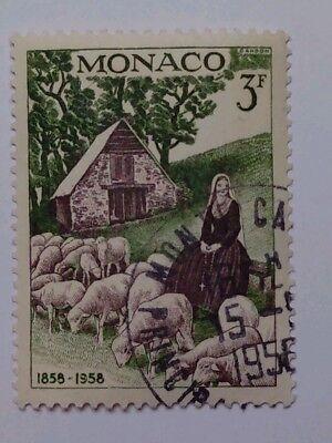 MONACO SCOTT 41-1958 BERNADETTE AS A  CHILD-GREEN & BLACK-USED-ORIGINAL GUM