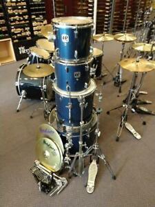 Westbury 5pcs Drums Kit 12-13-16-22 batterie acoustique bleue, trépieds et cymbales - usagée-used