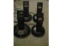 BT Graphite 1500 Quad Cordless Phones with Answering Machine
